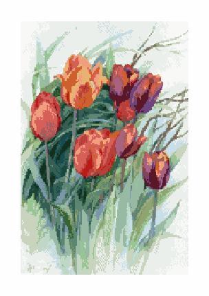 Гоблен - Пролетни лалета