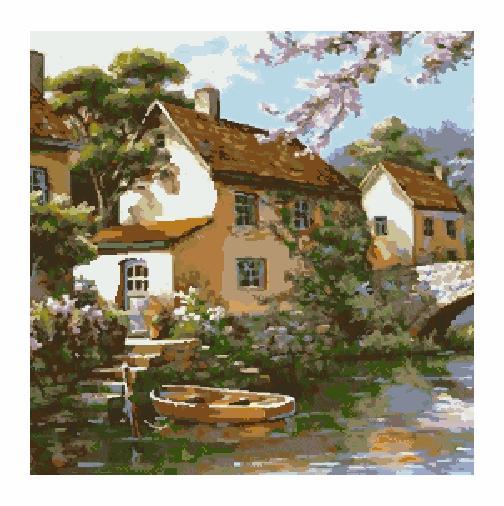 Гоблен - Къща край езерото