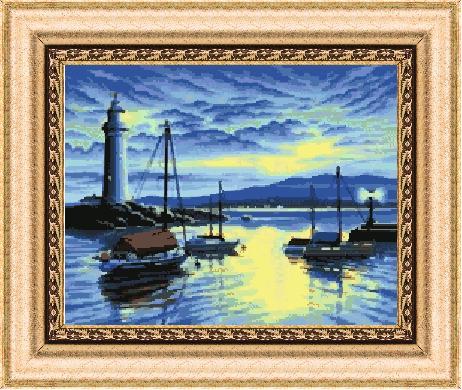 Гоблен - Фар в морето