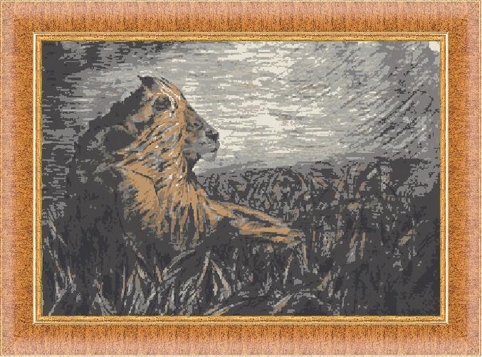 Гоблен - Пастелен лъв