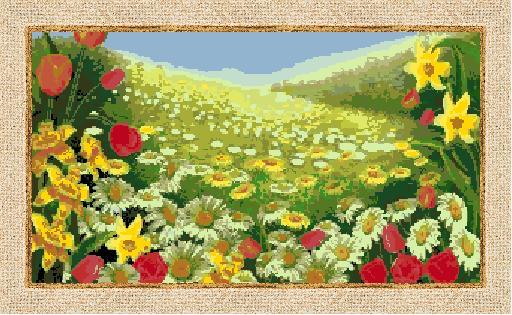 Гоблен - Поле с цветя