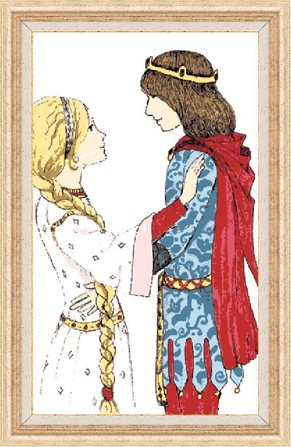 Гоблен - Принцът и принцесата