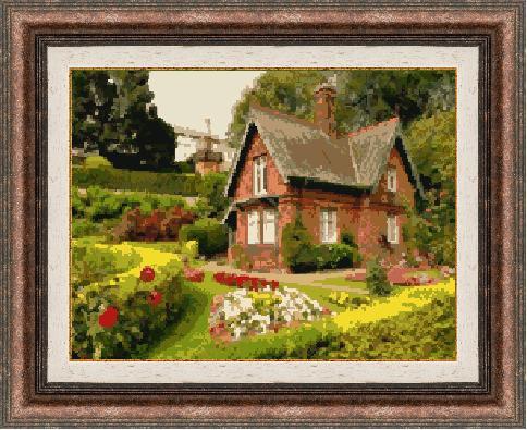 Гоблен - Къща в планината