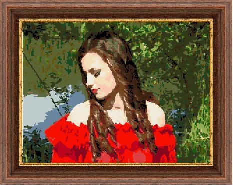 Гоблен - Момичето с червената рокля