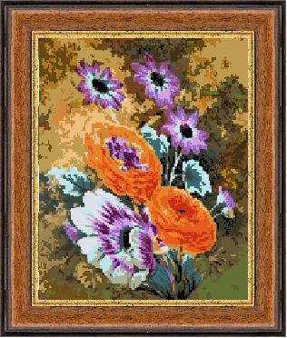 Гоблен - Нощни цветя